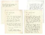 Gordon Cooper Handwritten Memos From Circa 1964 Regarding Spacecraft Windows -- Cooper Warns NASA of Possible Dangers During the Gemini & Apollo Missions
